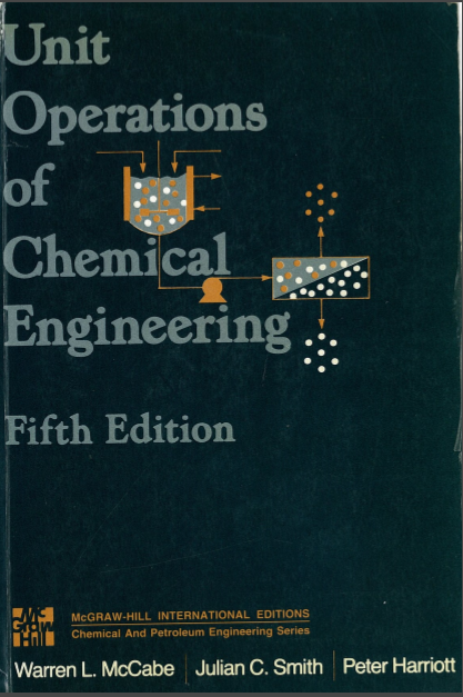 Unit operation of chemical engineering by mccabe and smith 5th edition