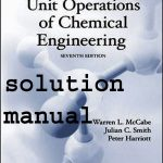 Unit Operations of Chemical Engineering Seventh Edition solution Manual Pdf Free Download
