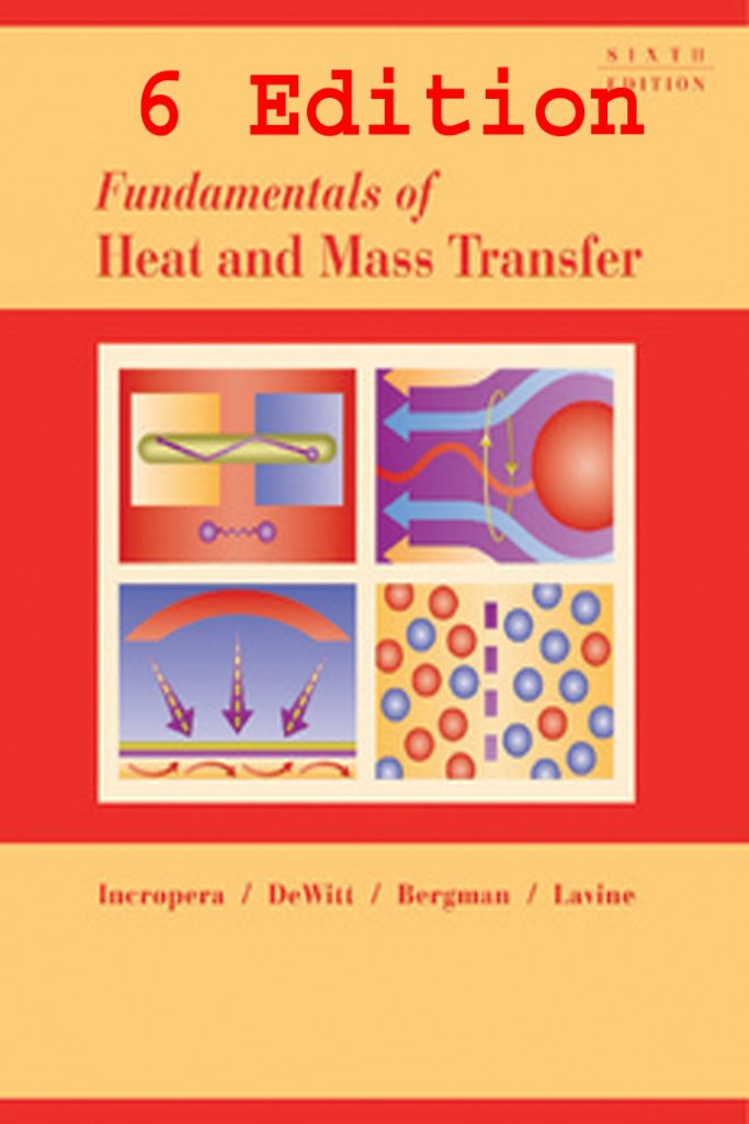Fundamentals of Heat and Mass Transfer 6th Edition Frank P Incropera