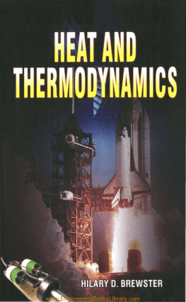 Heat and thermodynamics Hilary. D. Brewster Pdf Free Download