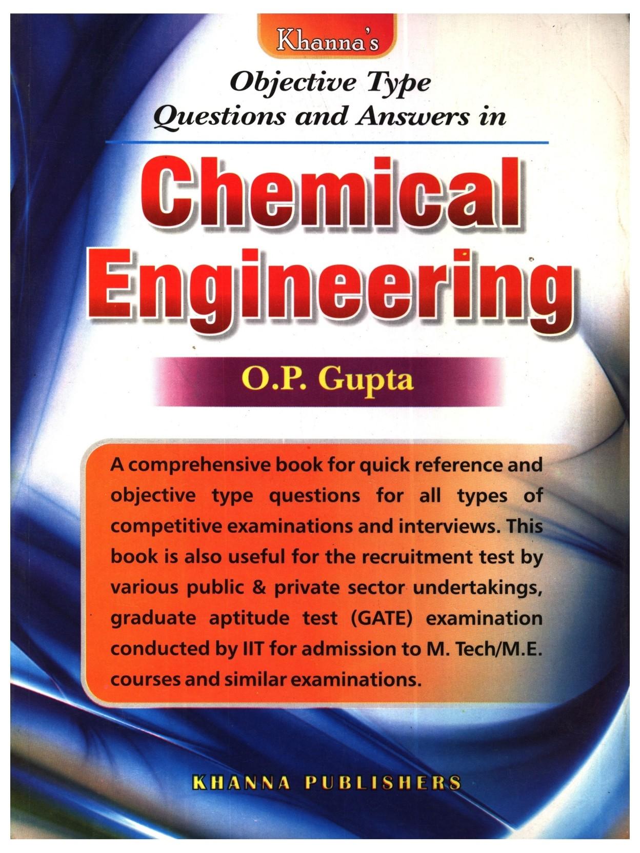 OP Gupta Chemical Engineering Book Free Download